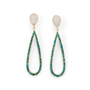 14K Gold Vermeil with Moonstone and Turquoise